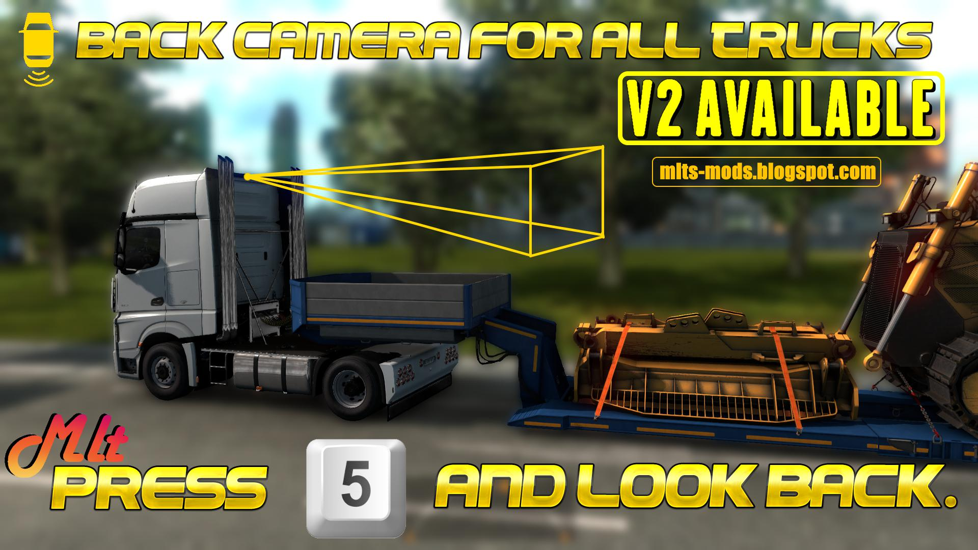 ETS2 - Back Camera for All Truck V2 Rear Camera V2.0 (1.39.x)