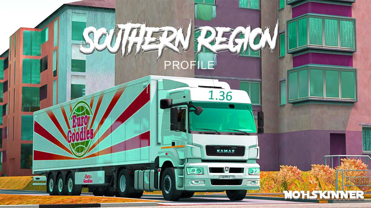 ETS2 - Southern Region Map for Profile Mod (1.36.x)