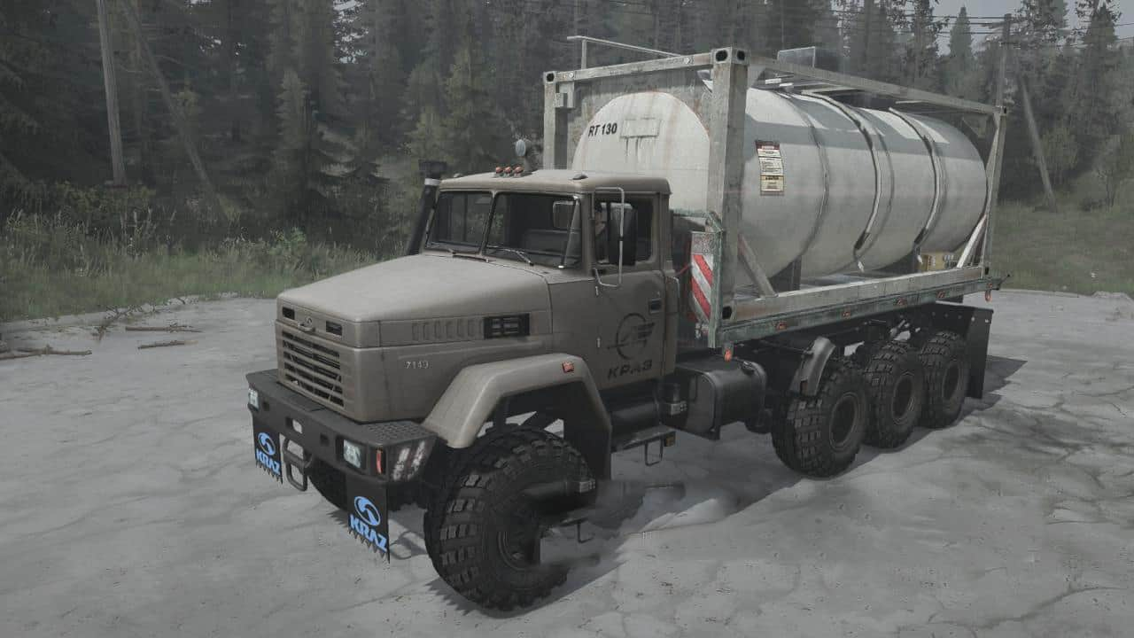 Spintires:Mudrunner - KrAZ-7140H6 Truck V06.04.21