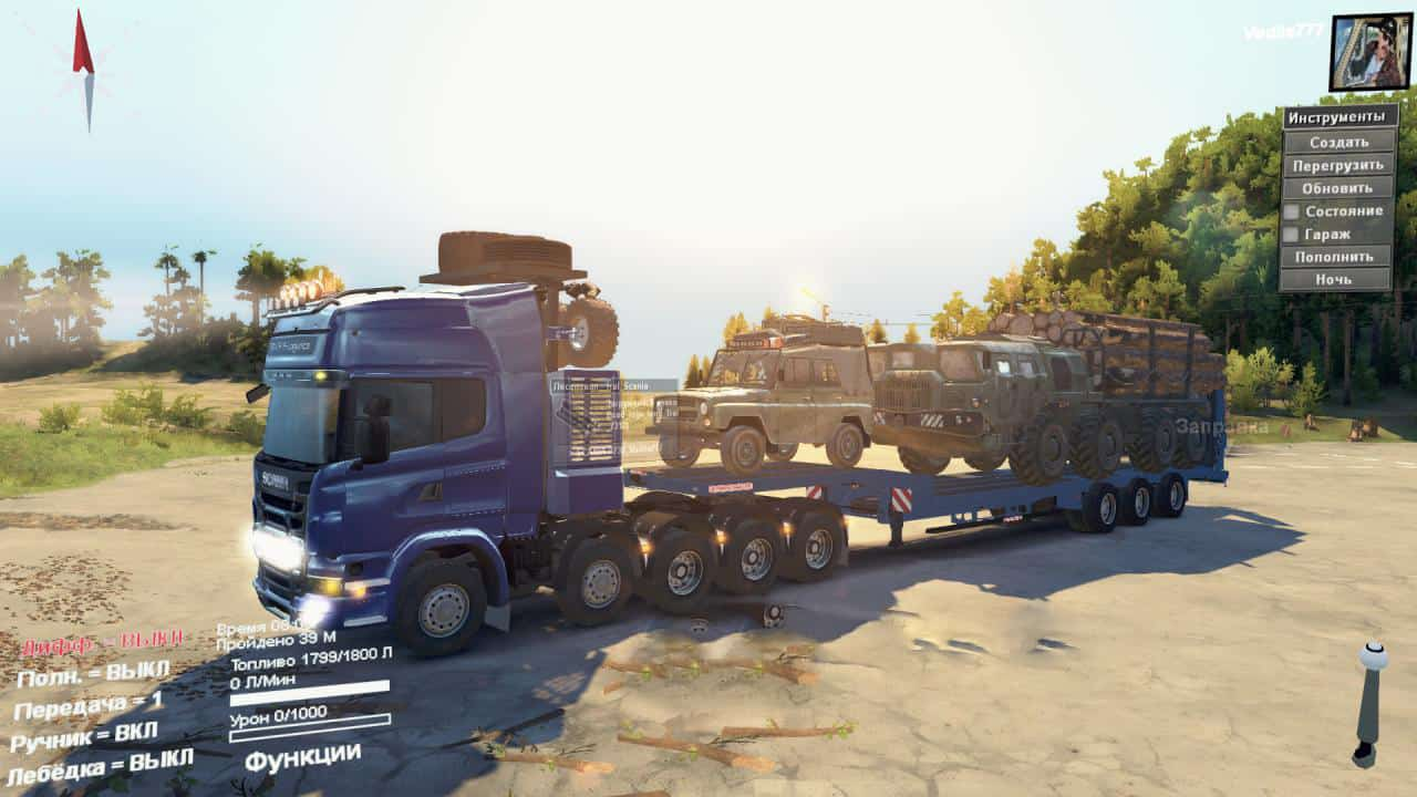 Spintires - Scania R730 10x10 Truck V2.0