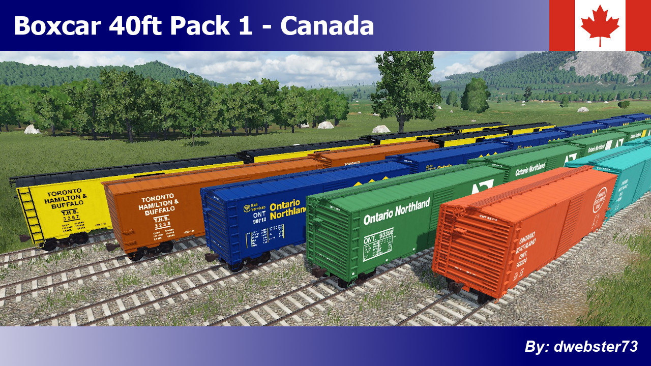 Transport Fever 2 - Boxcar 40ft Pack 1 – Canada