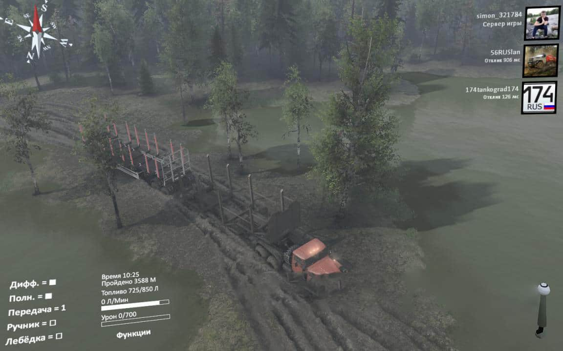 Spintires - Mountain River Map