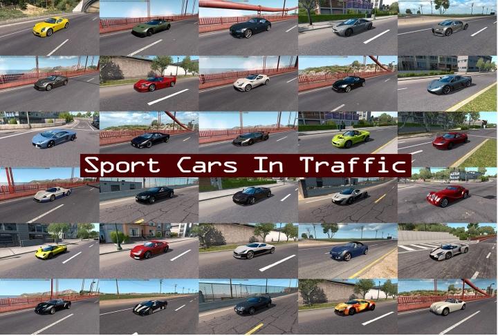 ATS - Sport Cars Traffic Pack V8.6.1 (1.40.x)