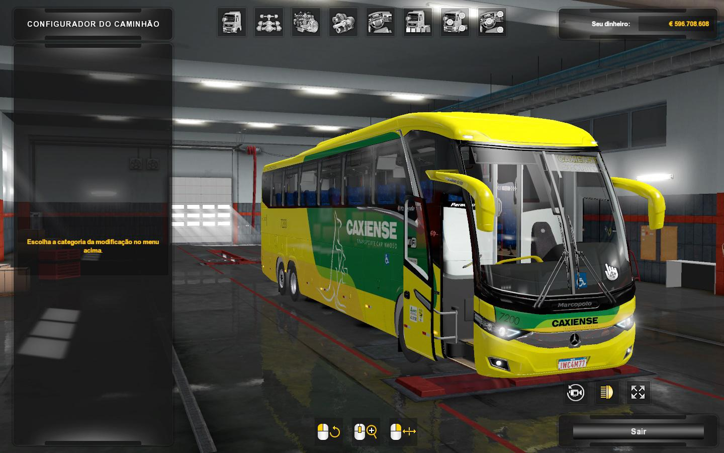 ETS2 - Marcopolo New G7 1350 Bus V1.2 (1.36.x)