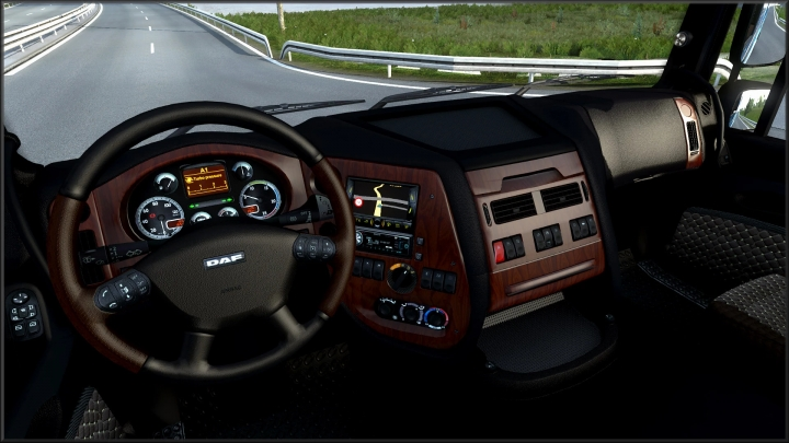 ETS2 - Dark Interior for Daf XF 105 V3.02 (1.40.x)