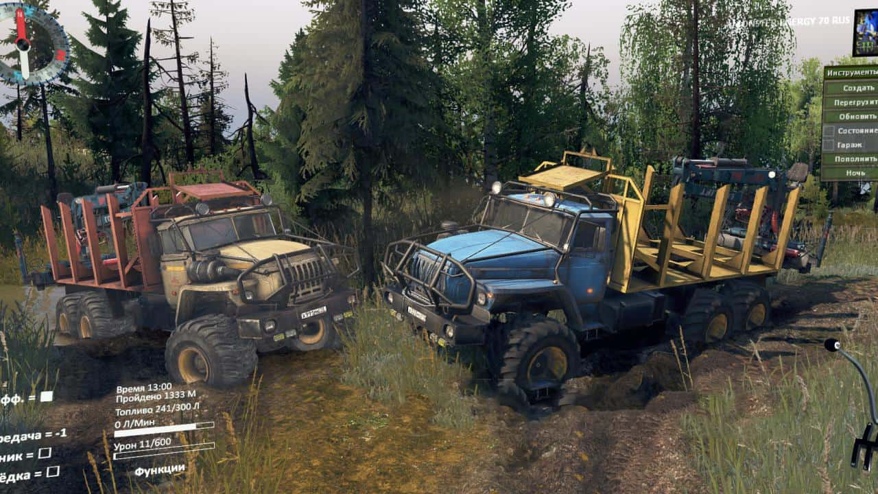Spintires - PPC (Tattoo Hurst-8Ball Gearbox) V1.0