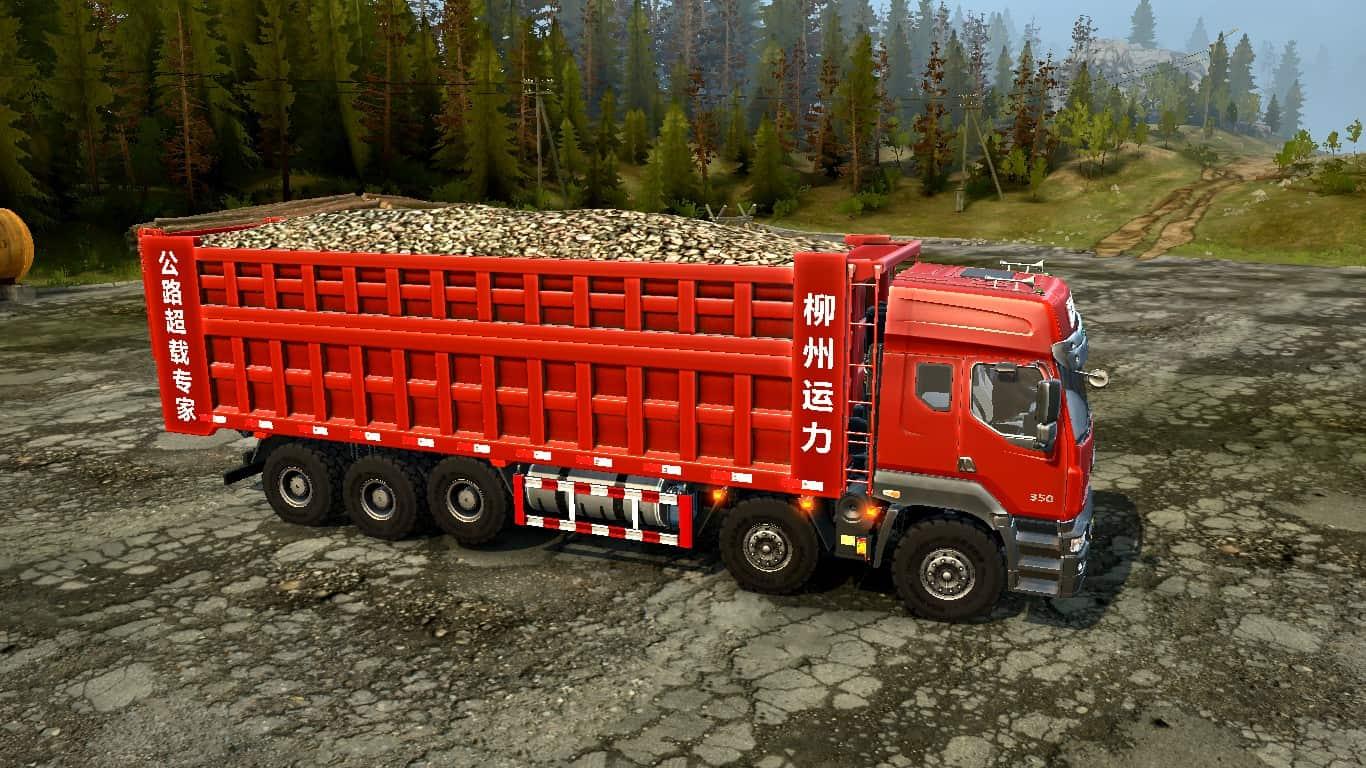 Spintires:Mudrunner - Dongfeng Balong-350 (6X12) Truck v1.0