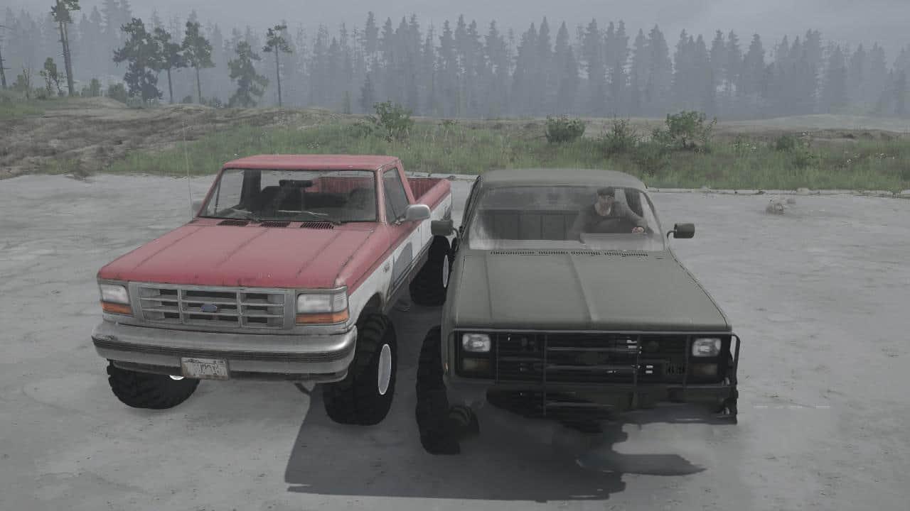 Spintires:Mudrunner - Chevrolet M1008 / Ford F-150 V01.05.19