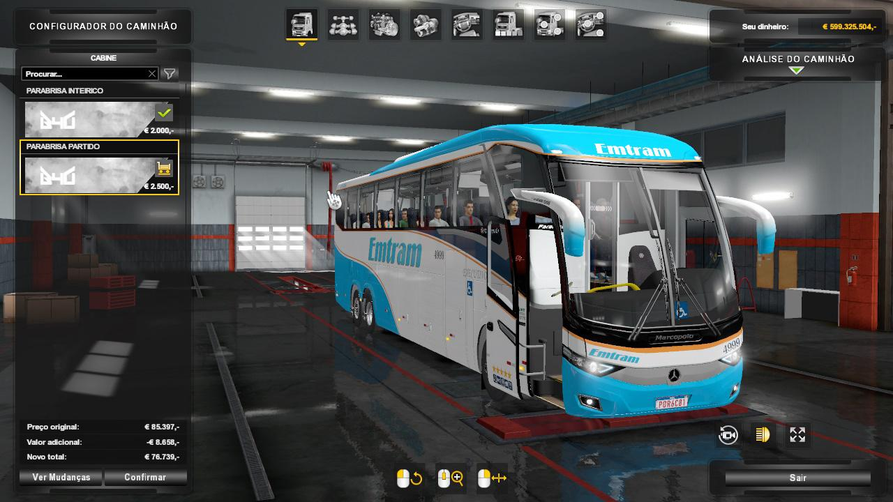 ETS2 - Marcopolo New G7 1350 - MB Bus Mod (1.36.x)
