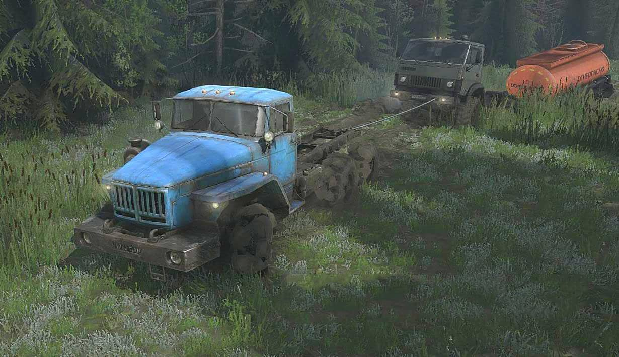 Spintires:Mudrunner - Grambled Map V1.0