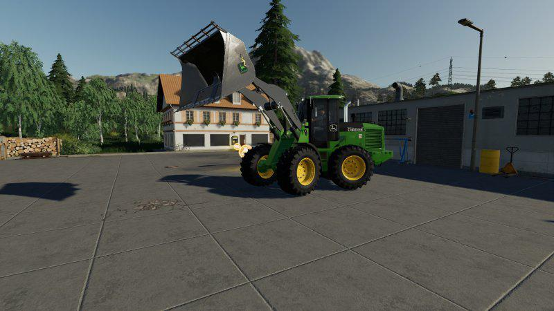 FS19 - John Deere 524K Wheel Loader & Shovel V1.0
