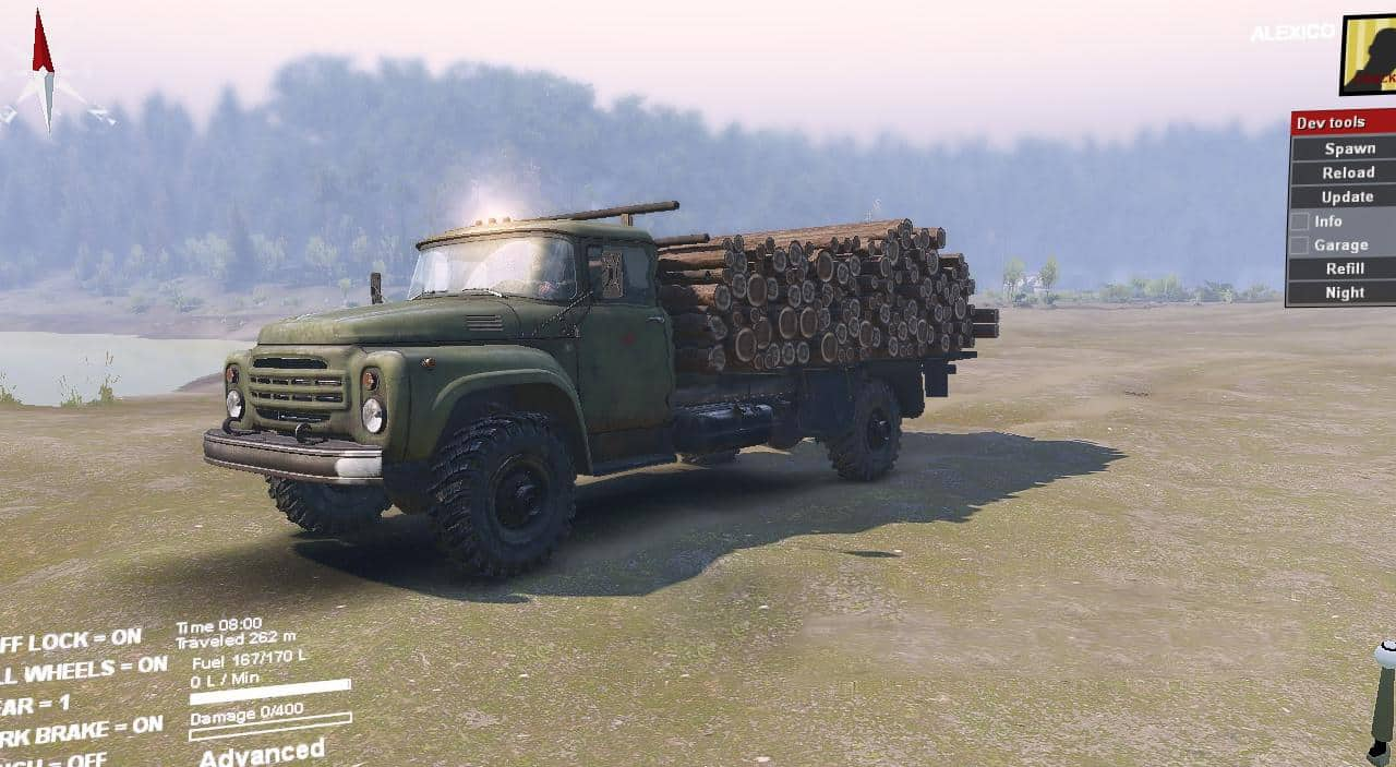 Spintires - Zilok 4x4 AlexGuD Truck V1.0