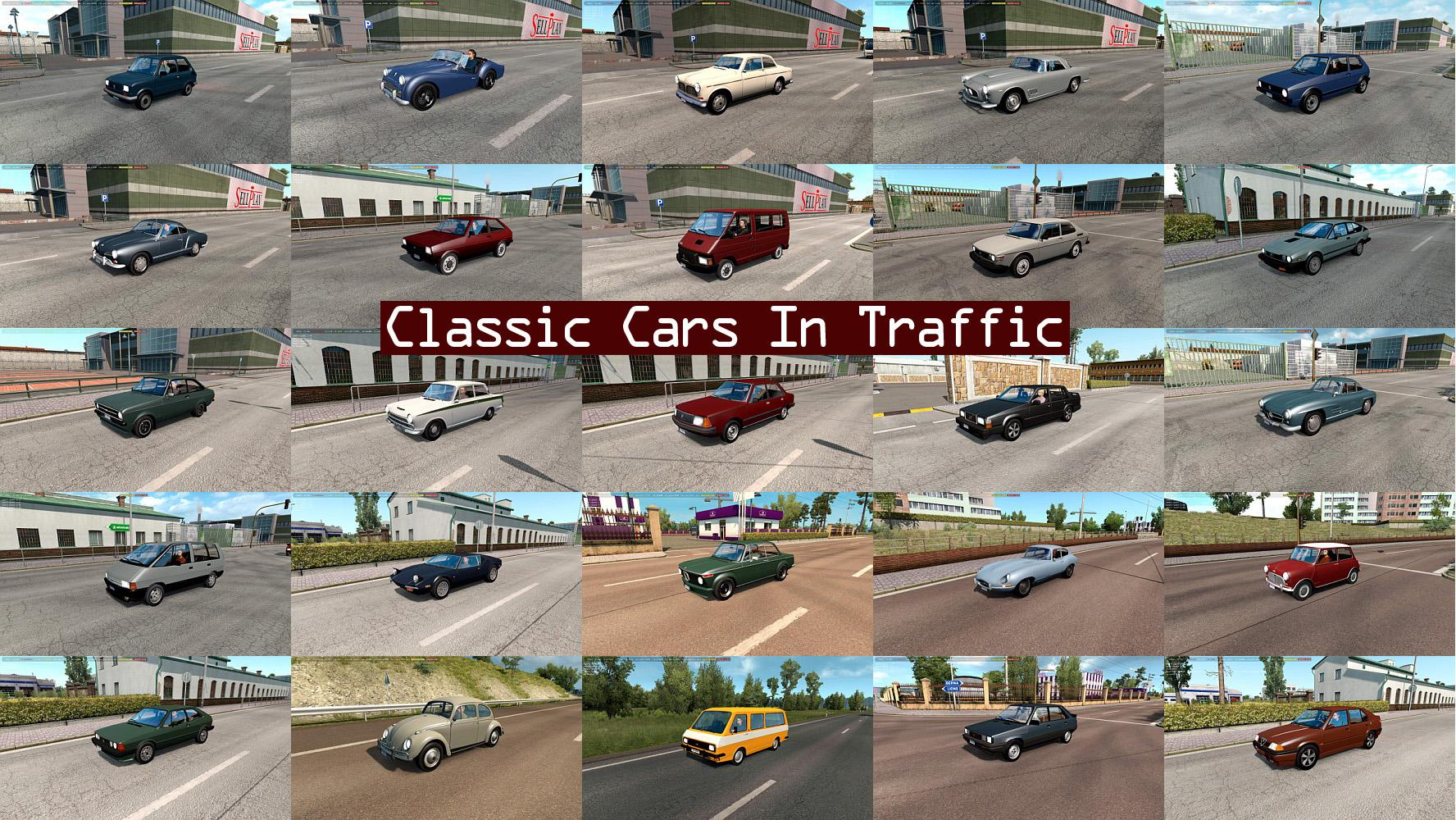 ETS2 - Classic Cars Traffic Pack V3.5 (1.35.X)
