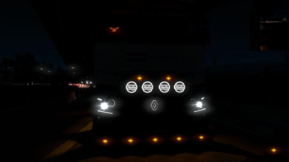 ETS2 - Angel Eyes for Renault T V2.0 (1.35.X)