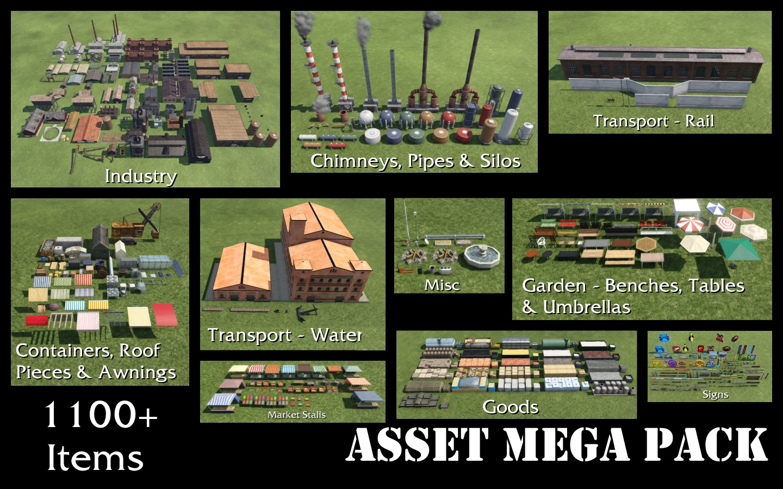Transport Fever 2 - Asset Mega Pack