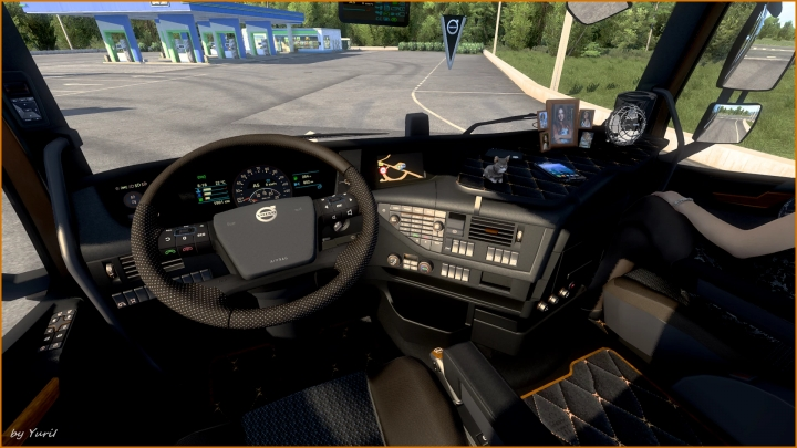 ETS2 - Dark Grey Interior Volvo FH16 2012 V0.8 (1.40.x)