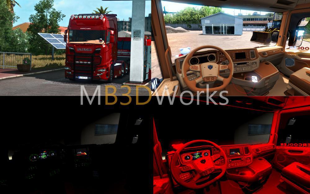 ETS2 - Scania S520 V8 Siyah Holland (1.38.x)