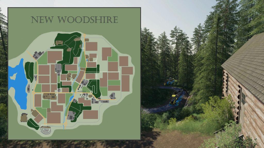 FS19 - New Woodshire Map V1.1