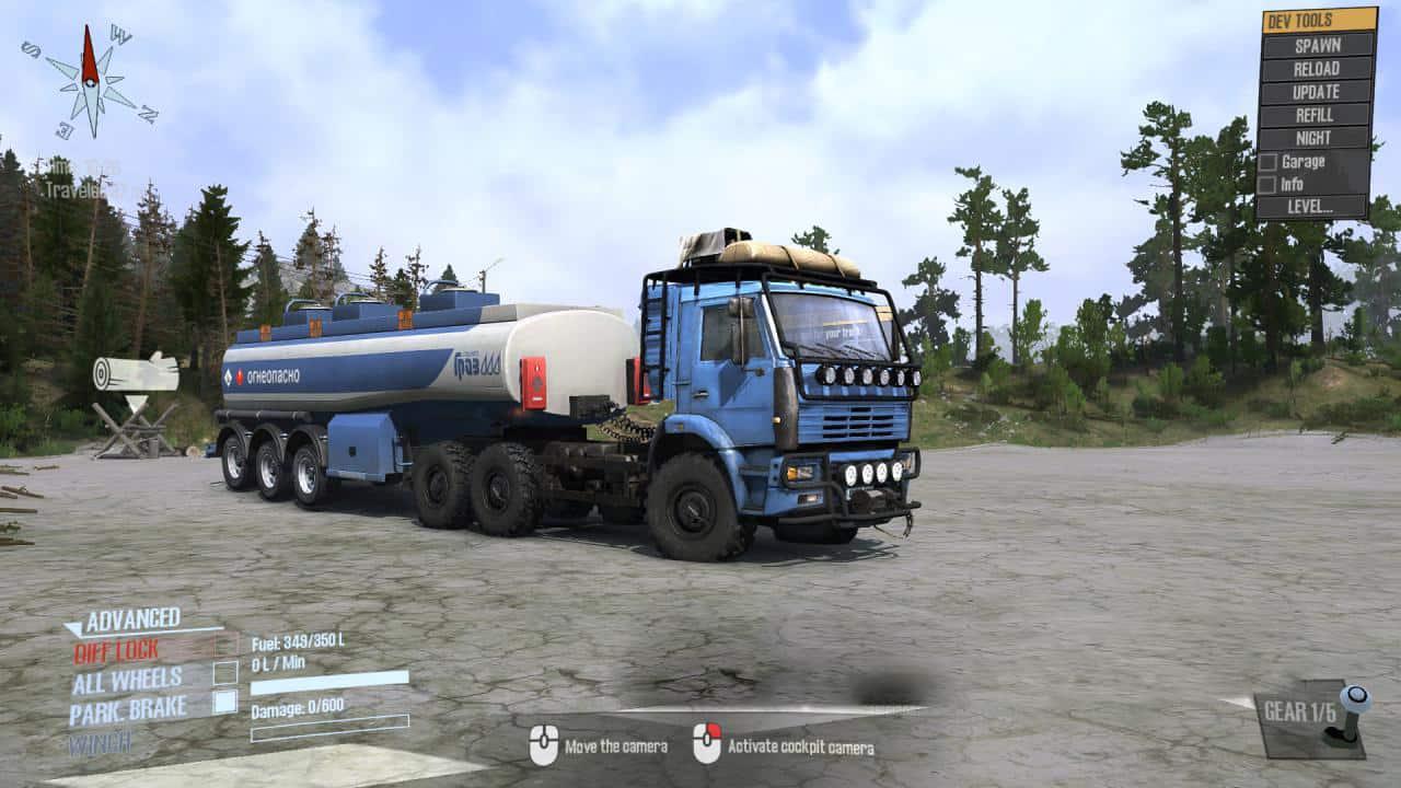 Spintires:Mudrunner - Kamaz 6522 Truck V27.04.20