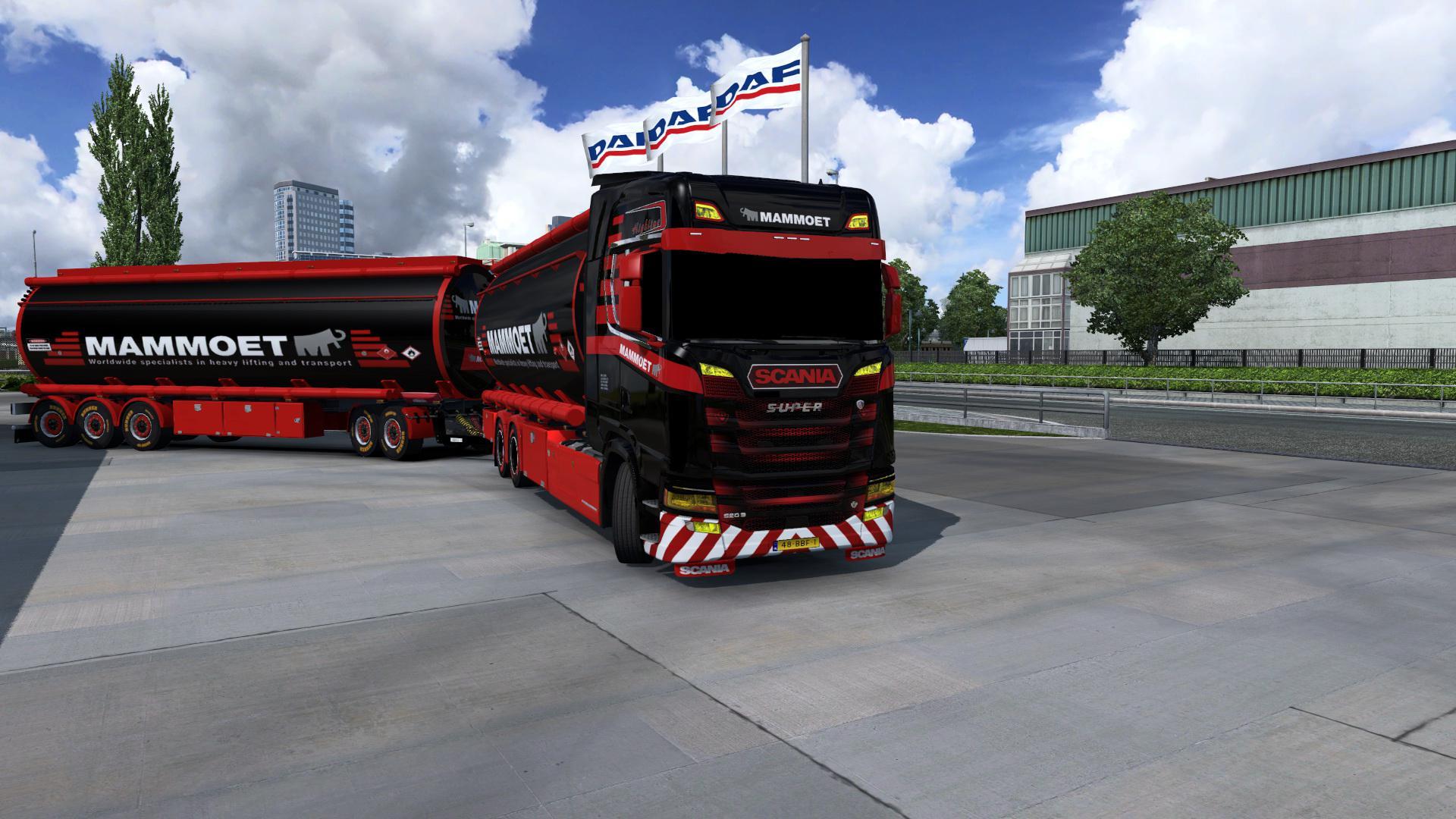 ETS2 - BDF Tandem Mammoet Scania Skin V1 (1.37.x)