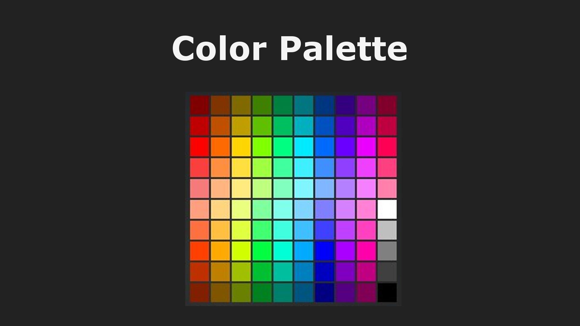 Transport Fever 2 - Color Palette