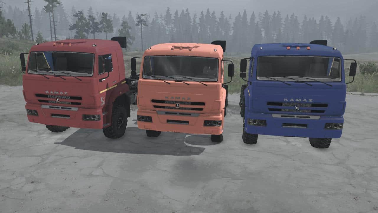 Spintires:Mudrunner - KamAZ-6522-53 Truck V21.12.20