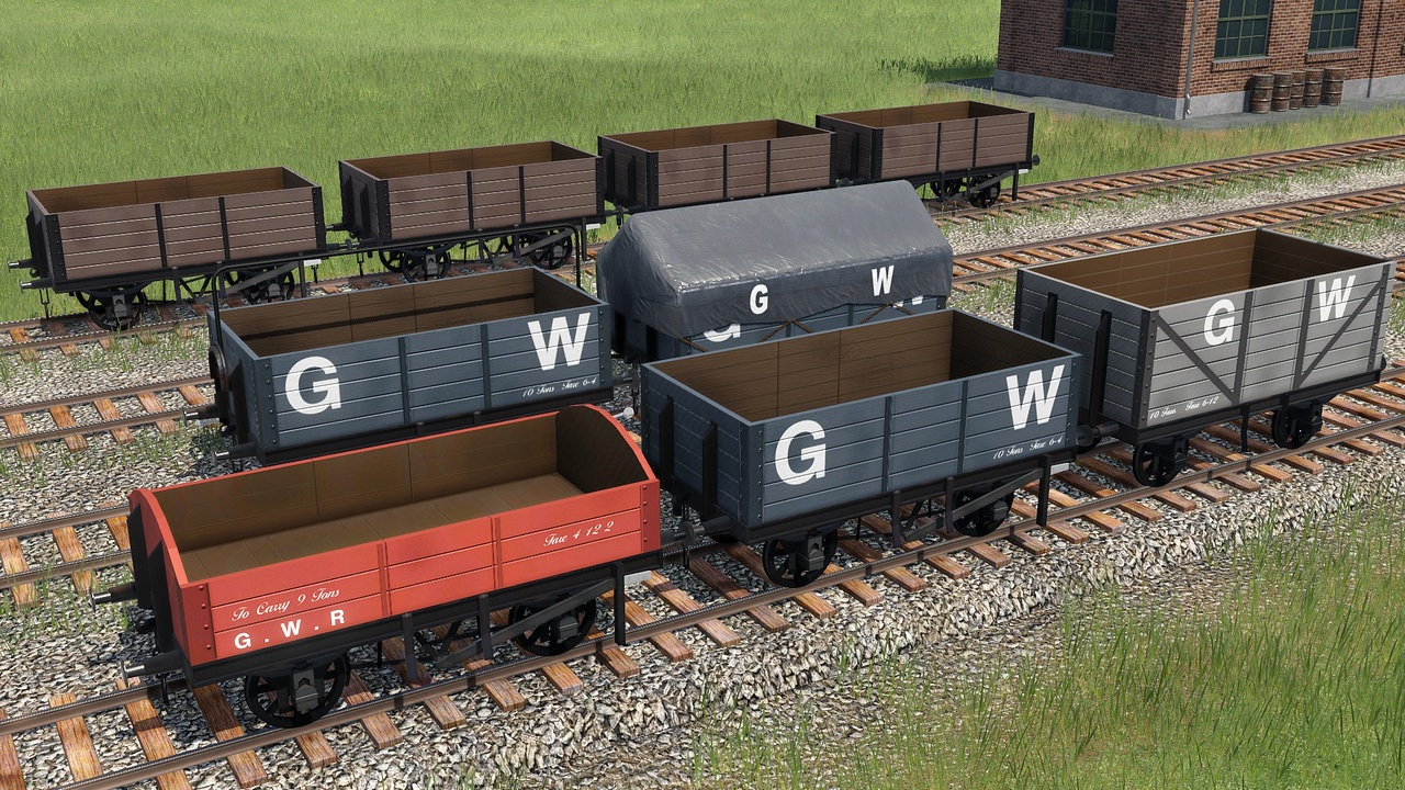 Transport Fever 2 - GWR Open Waggons