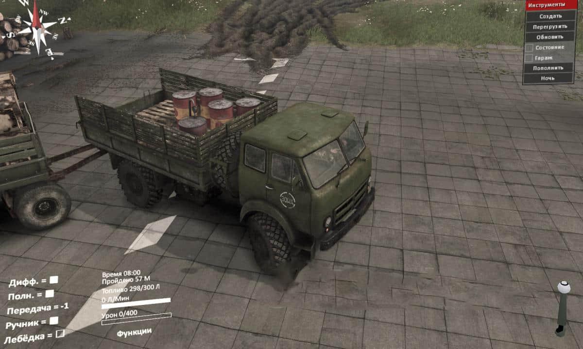 Spintires - Maz 505 Truck from DLC Chernobyl V1