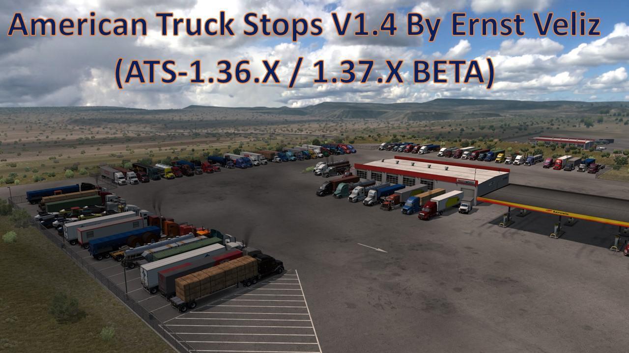 ATS - American Truck Stops V1.4 (1.37.x)
