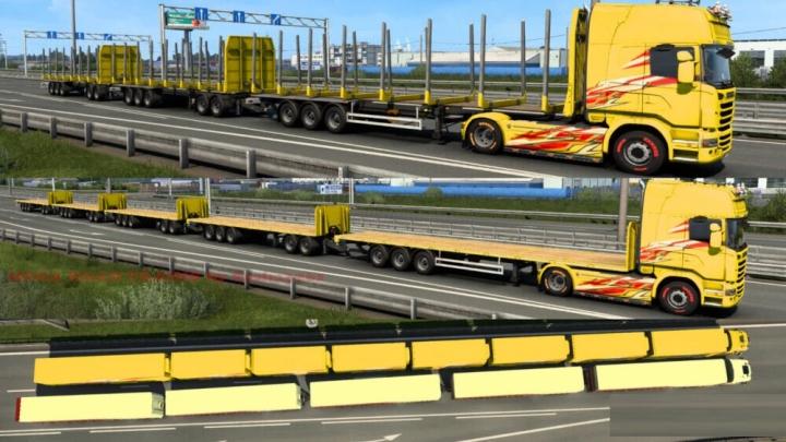 ETS2 - Mega Road Trains V1.0 (1.40.x)