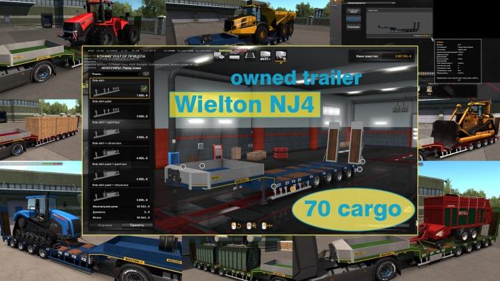 ETS2 - Ownable Overweight Trailer Wielton NJ4 V1.7.7 (1.41.x)