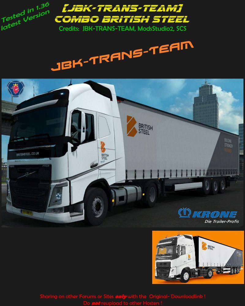ETS2 - JBK Combo British Steel V1.0 (1.36.x)