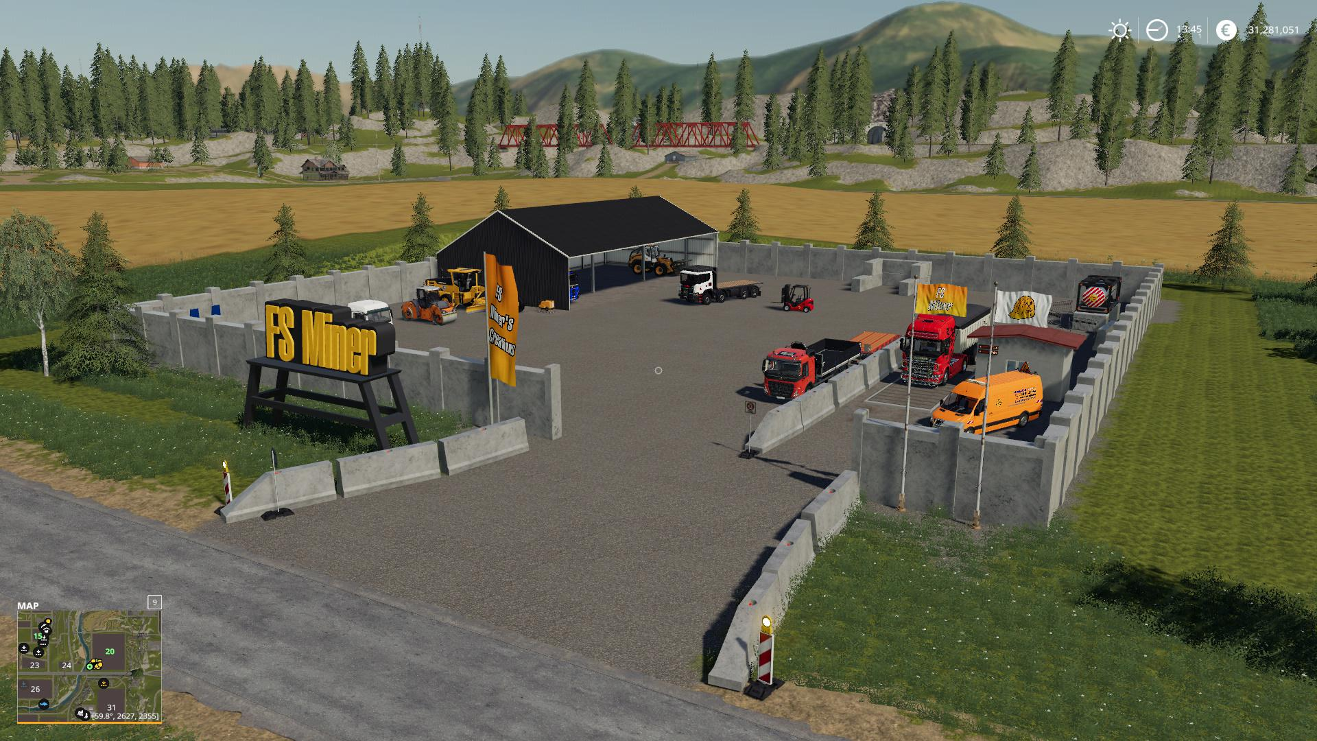 FS19 - Mining And Construction Deco Pack V1.0