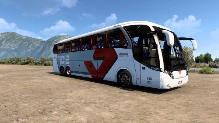 ETS2 - New Road N10 380MB O-500RSD B4D Bus Mod (1.41.x)