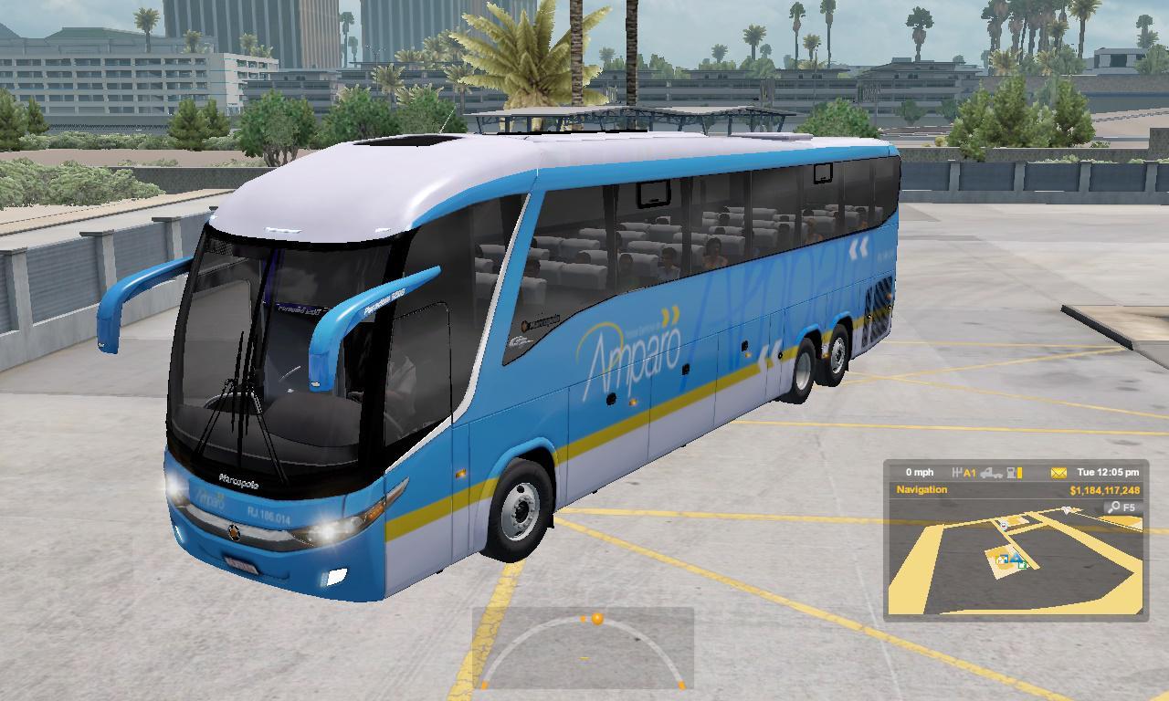 ATS - Marcopolo G7 1200 Facelift + Passengers Mod V2.3 (1.36.x)