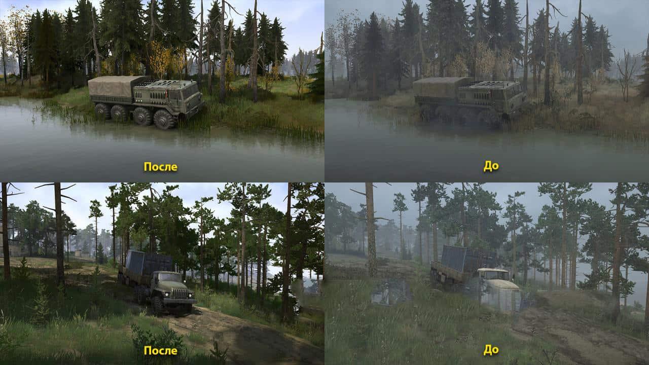 Spintires:Mudrunner - Realistic Graphics Adega Mod Pack V3.0