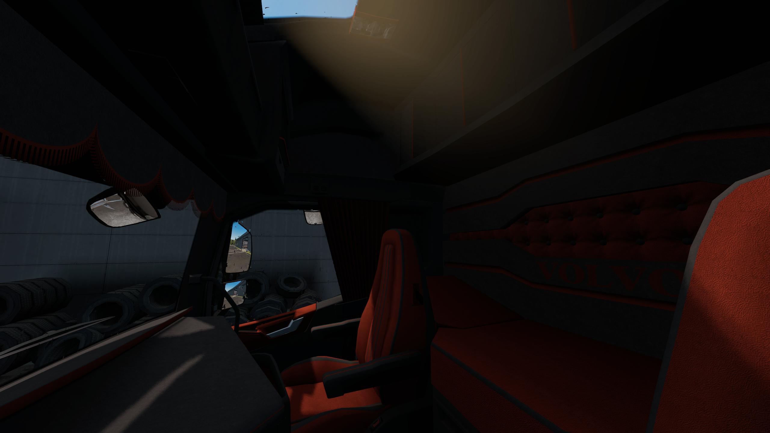 ETS2 - Volvo FH 2012 Black & Amber Interior (1.36.x)