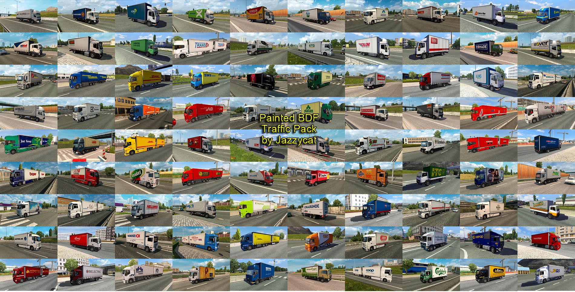 ETS2 - Painted BDF Traffic Pack V9.4 (1.39.x)