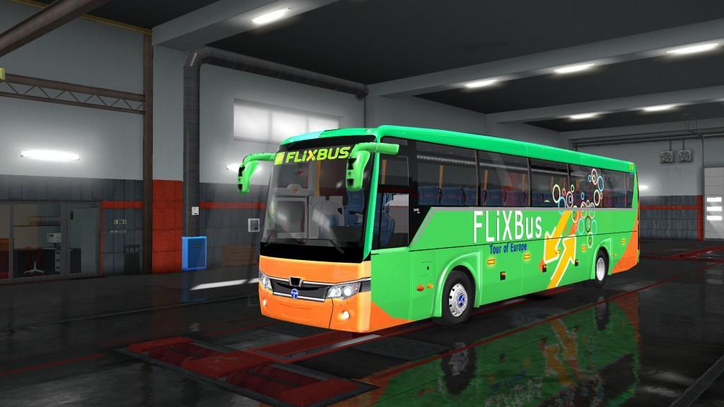 ETS2 - Temsa Safir Plus Flix Bus V2.0 (1.36.x)