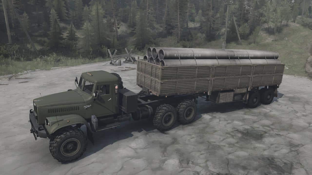 Spintires:Mudrunner - KrAZ-255B Truck V21.03.20