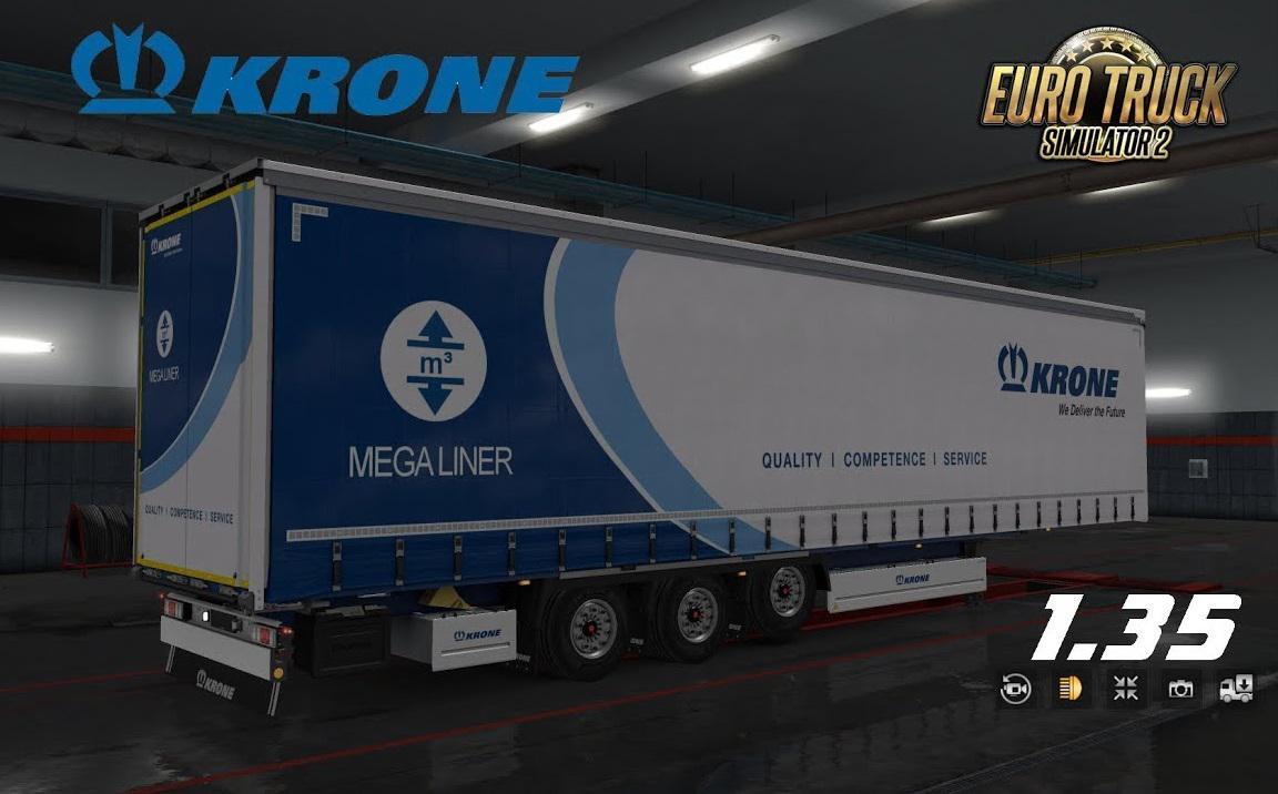 ETS2 - Krone Megaliner Skin Pack V3.4 (1.35.X) | Euro