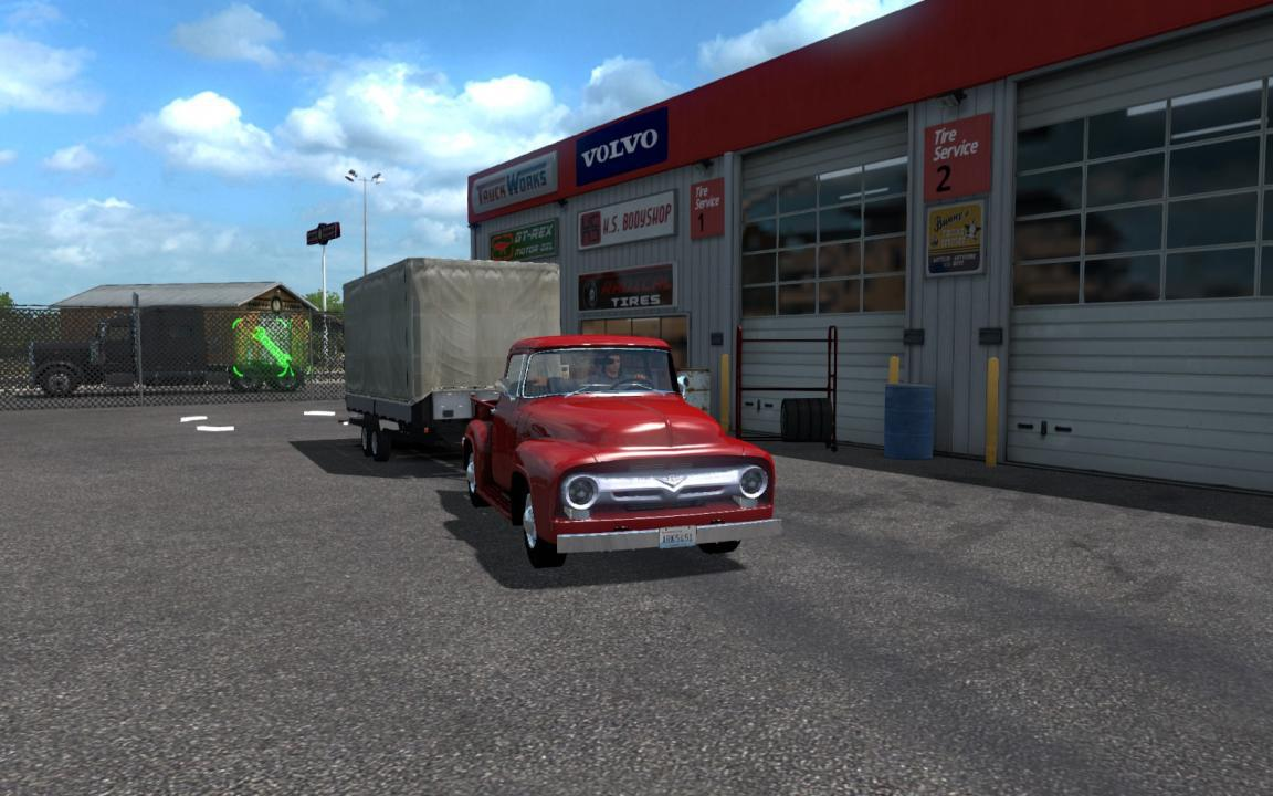 ATS - Ford F-100 Custom Cab 1956 + Mini-Trailer (1.35.X)