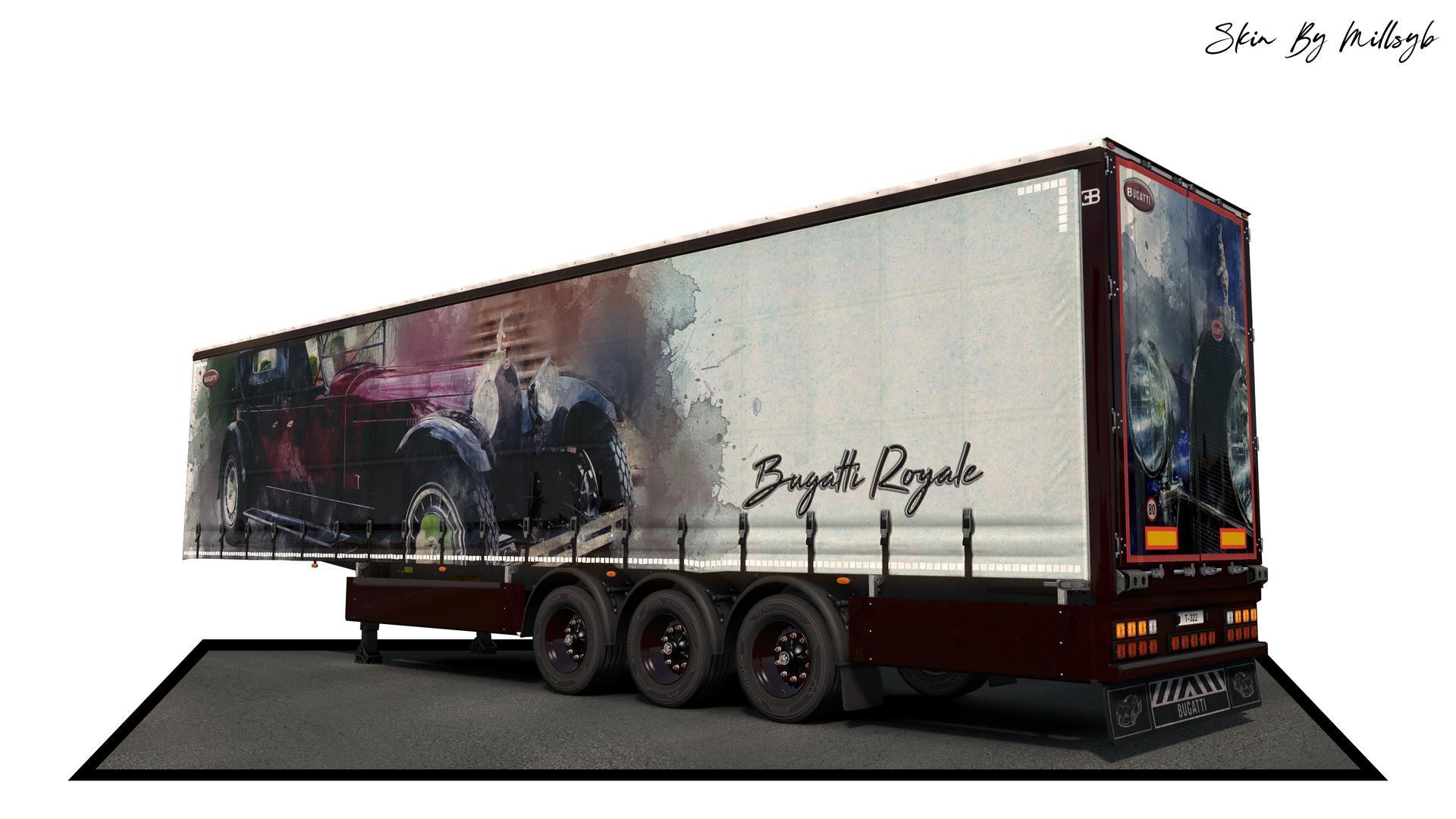 ETS2 - Bugatti Watercolor Trailer Skin Pack V1.0 (1.36.x)