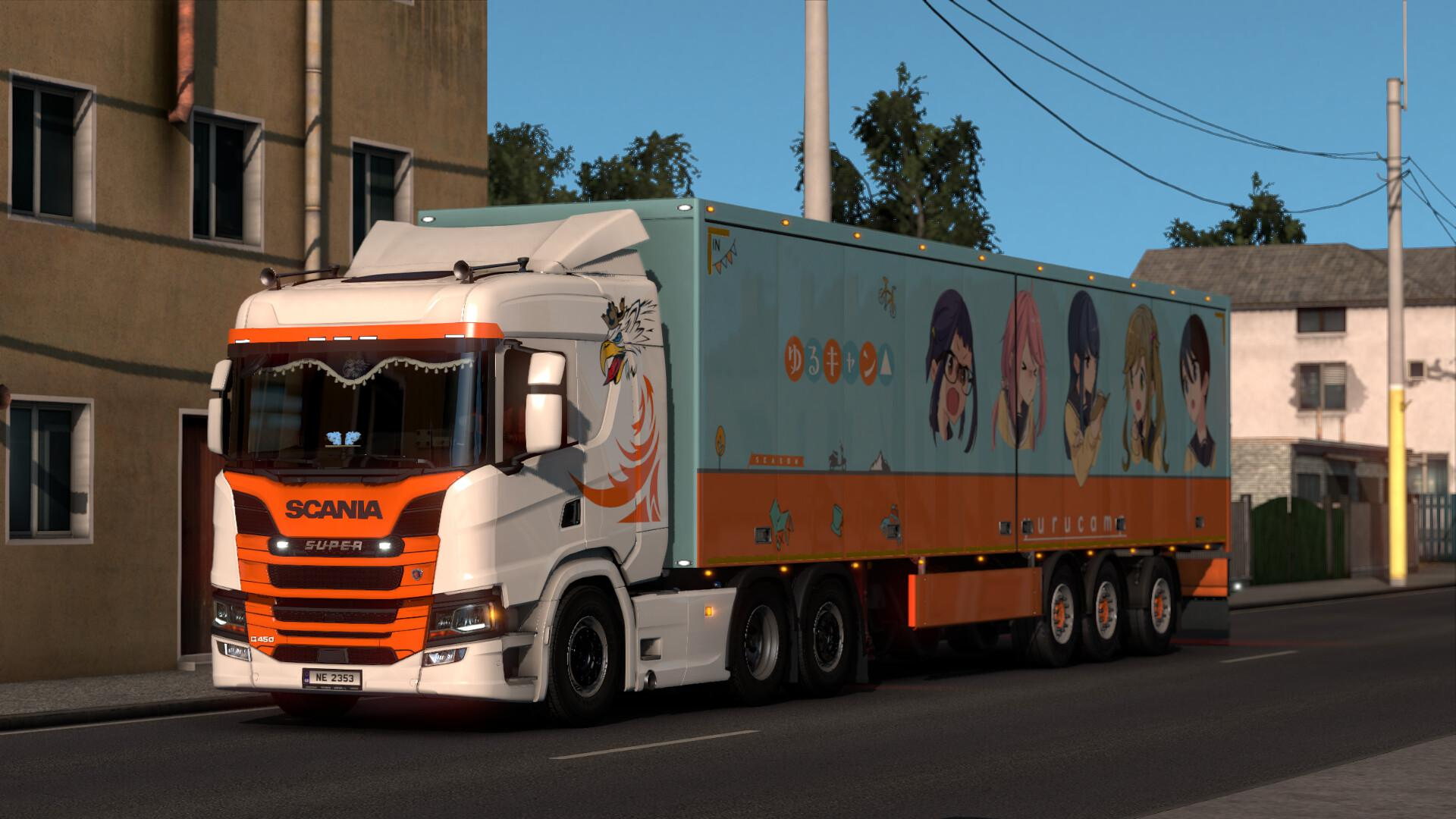 ETS2 - Paintable Griffin Skin for Scania V1.0 (1.40.x)