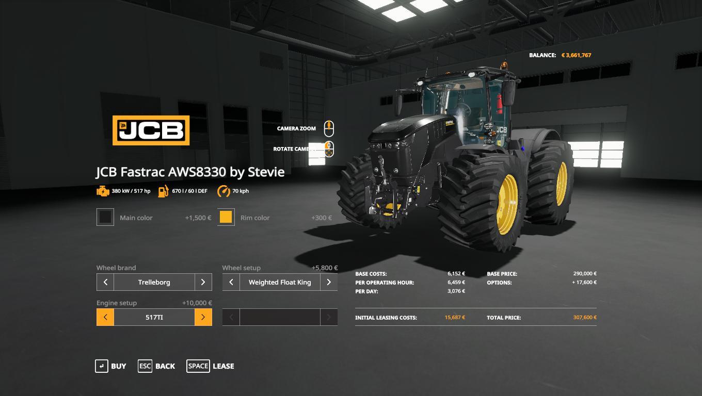 FS19 - Mod Update JCB 8330