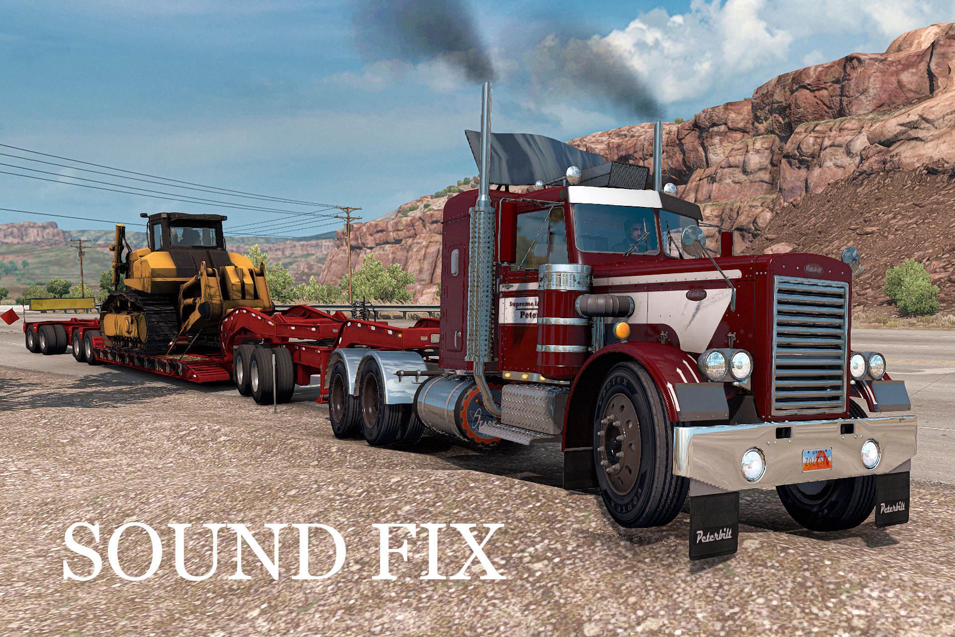 ATS - Sound Fix for Peterbilt 281-351 mTG 1.25 (1.39.x)