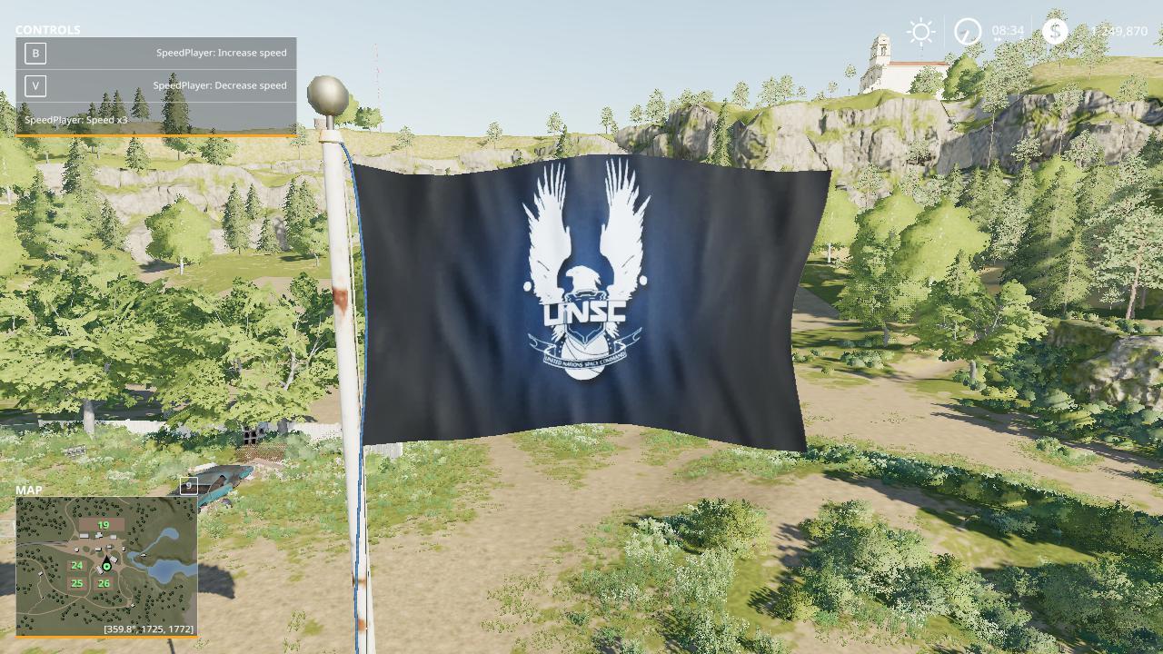 FS19 - UNSC Flag V1.0