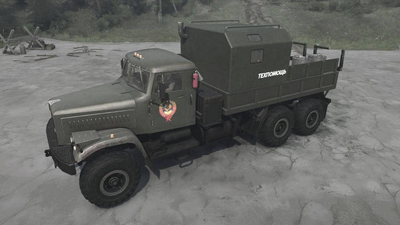 Spintires:Mudrunner - Kraz RSK Truck V30.06.20