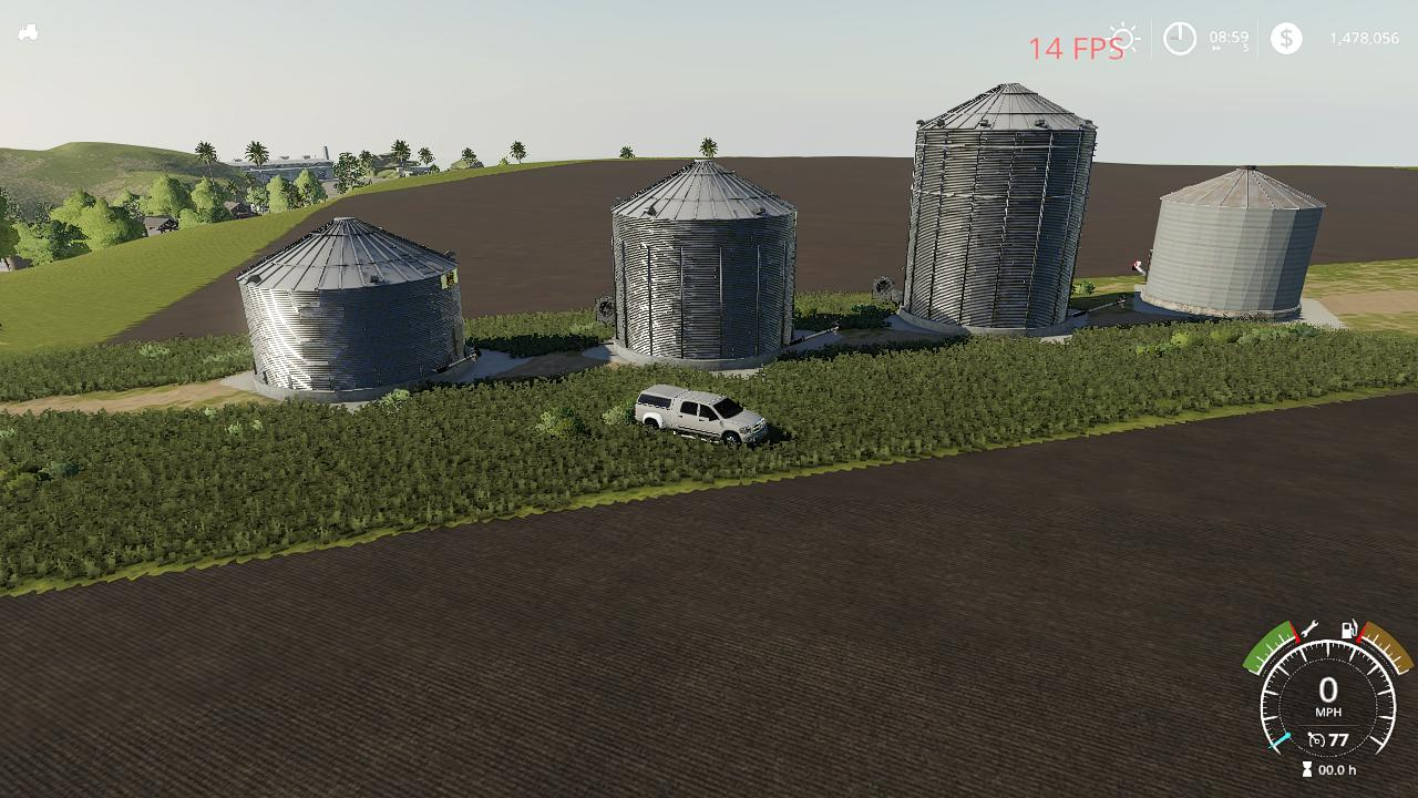 FS19 - GSi Grain Bins Pack V1.0