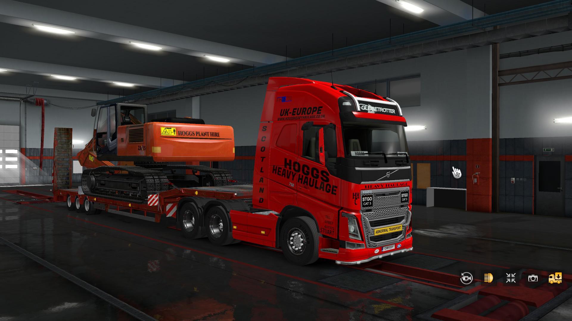 ETS2 - Volvo 2012 Hoggs Heavy Haulage Skin V1.0 (1.36.x)